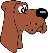 cartoon hound dog