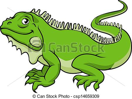 ... Cartoon Iguana Lizard - An illustrat-... Cartoon Iguana Lizard - An illustration of a happy green.-10