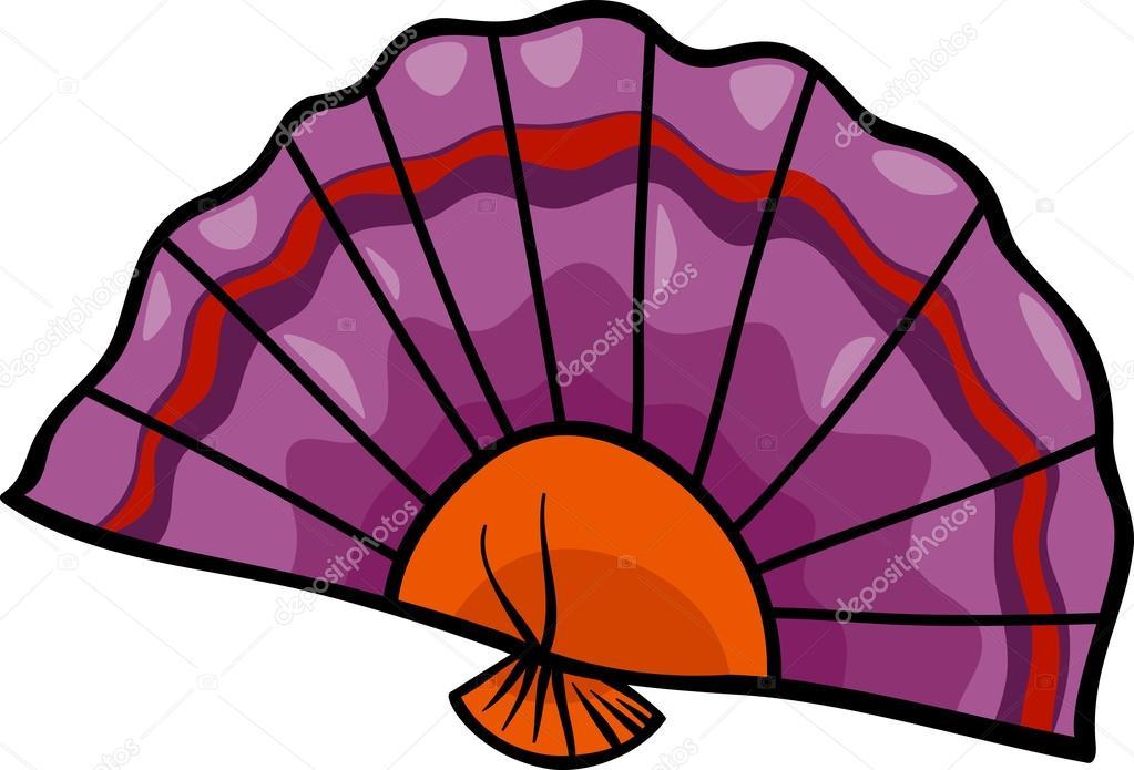Cartoon Illustration of Flat Fan Clip Art u2014 Vector by izakowski