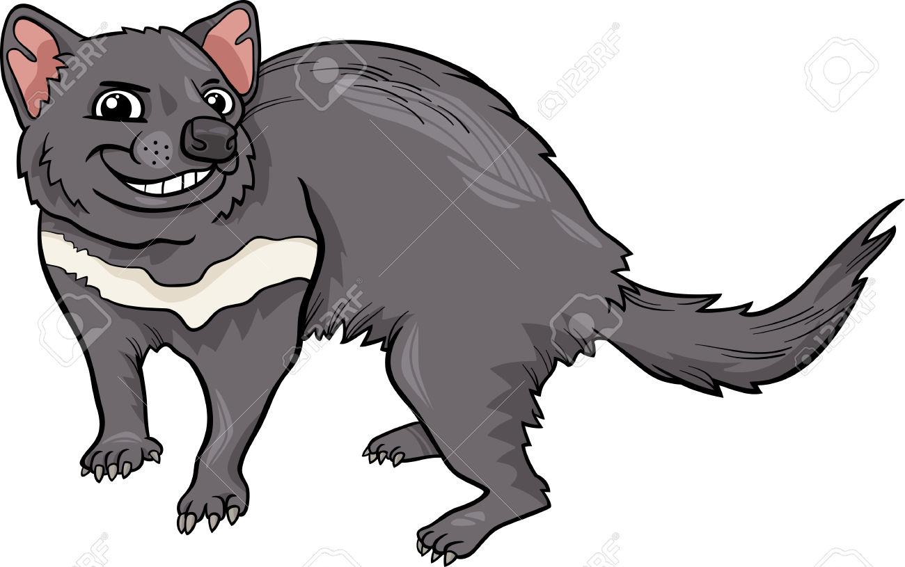 Cartoon Illustration Of Funny Tasmanian -Cartoon Illustration of Funny Tasmanian Devil Marsupial Animal Stock Vector - 29651176-1