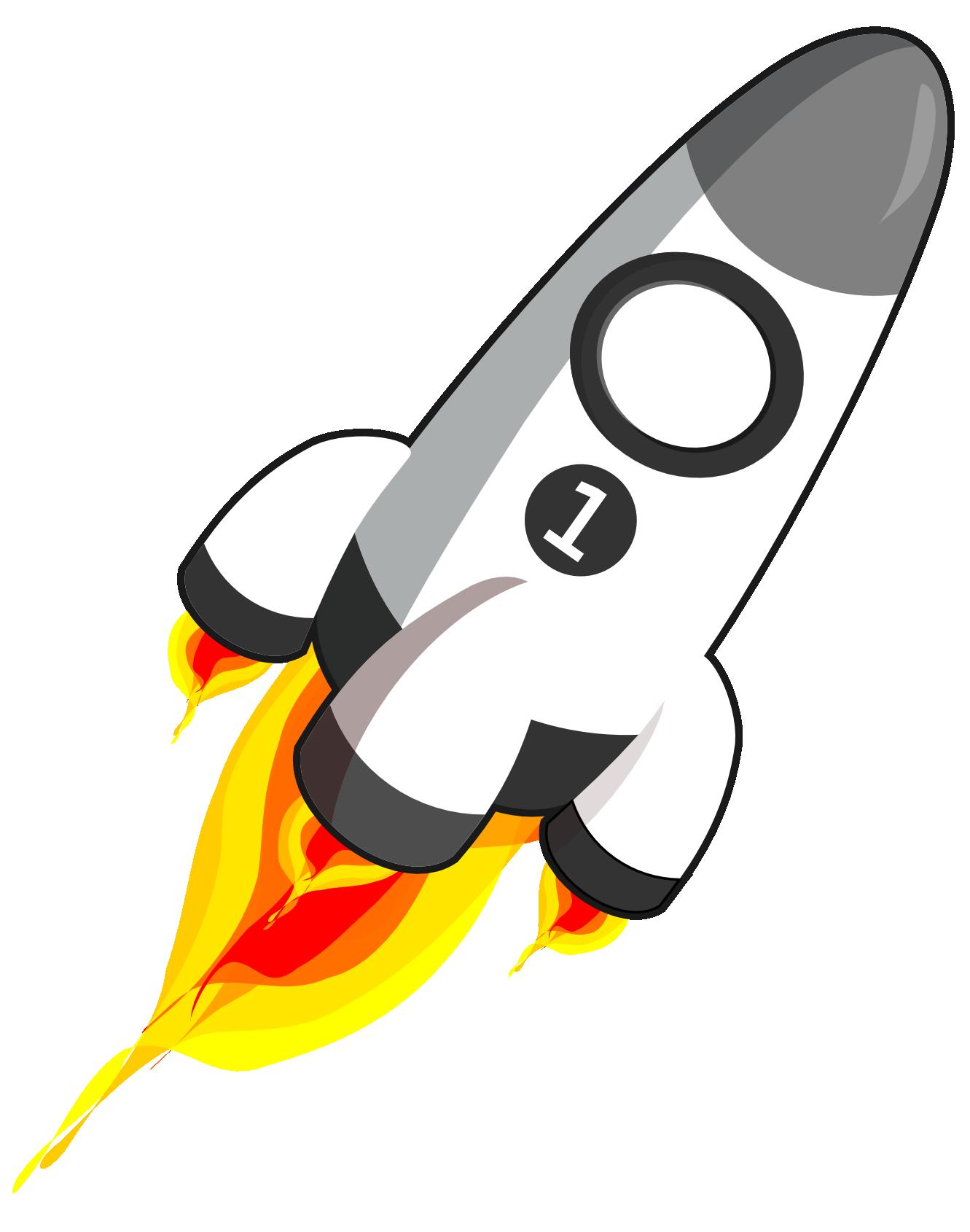 Cartoon Image Of Rocket