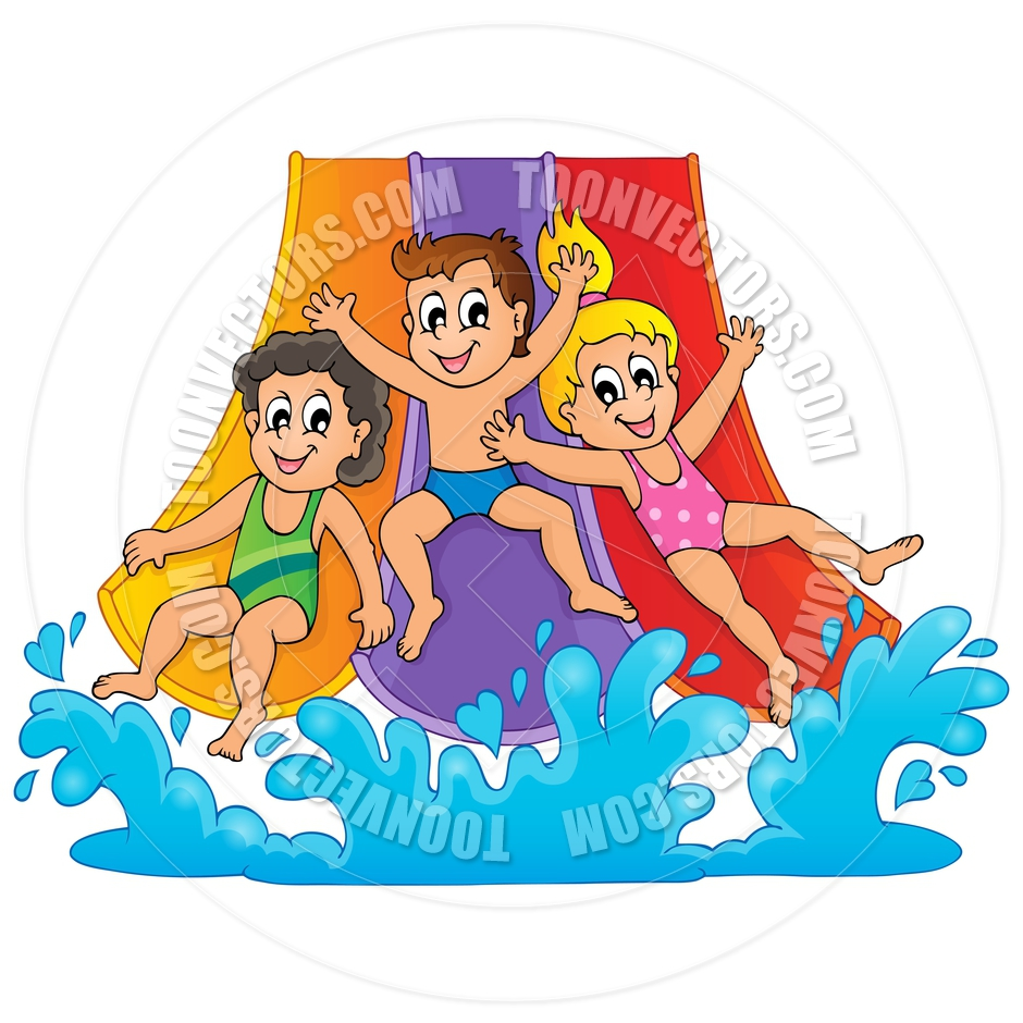 Cartoon Image With Water Park Theme By C-Cartoon Image With Water Park Theme By Clairev Toon Vectors Eps-2