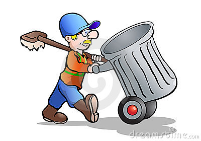 Cartoon Janitor - Clipart ... The Cell is like a School by .