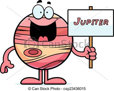 ... Cartoon Jupiter Sign - A cartoon illustration of the planet.