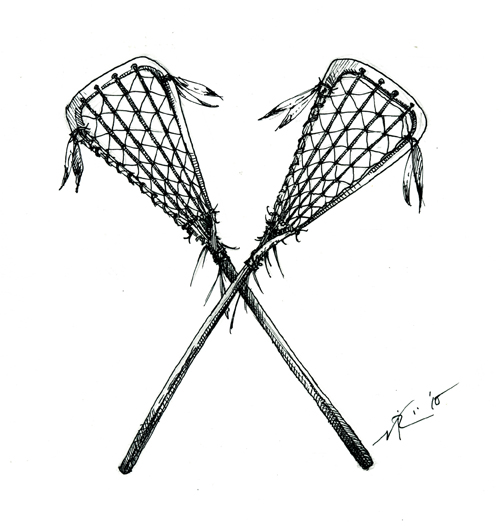 Cartoon lacrosse sticks clipart