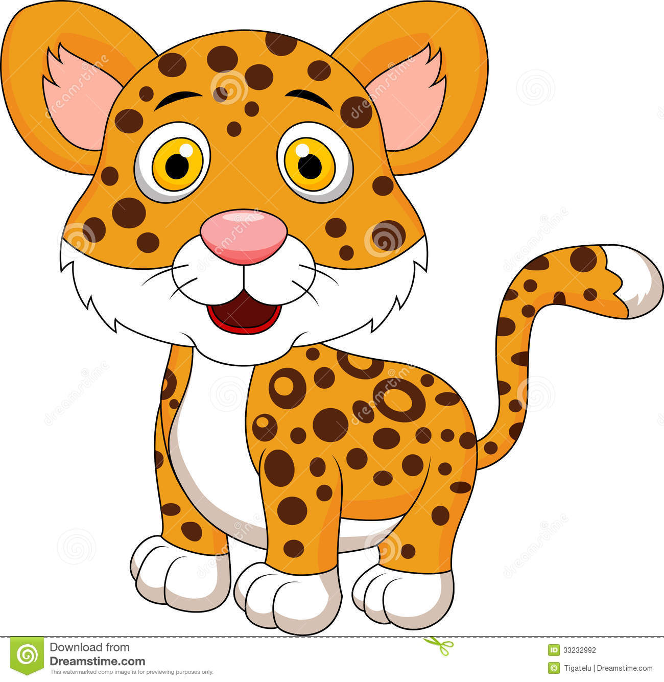Cartoon Leopard Clipart #1-Cartoon Leopard Clipart #1-1