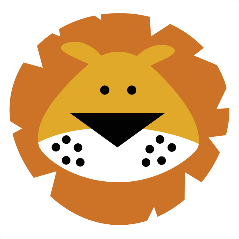 Cartoon Lion Face. Lion King Clipart. Zoo/Wild Animals - Miss Kate Cuttables | Product Categories