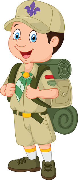 Cartoon Little Boy Scout .-Cartoon little boy scout .-11