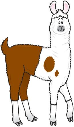 Cartoon Llama Clipart Image-Cartoon llama clipart image-2