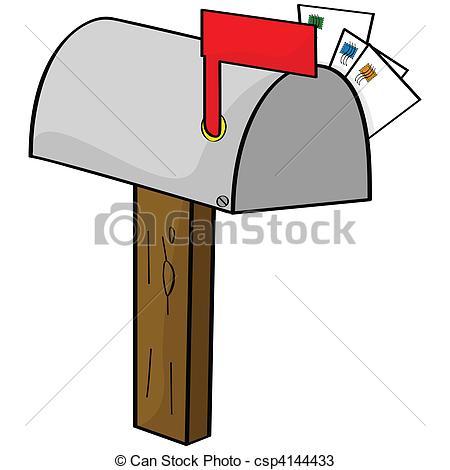 ... Cartoon mailbox - Cartoon illustrati-... Cartoon mailbox - Cartoon illustration of an old-style.-12
