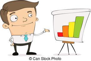 ... Cartoon Manager - Funny Cartoon Mana-... Cartoon manager - Funny cartoon manager pointing to a chart.-2