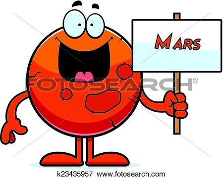 Cartoon Mars Sign-Cartoon Mars Sign-1