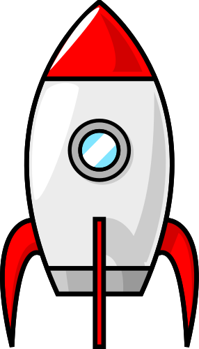Cartoon Moon Rocket