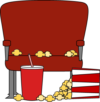 Cartoon movie theater clipart