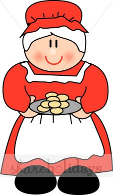 Cartoon Mrs. Claus With Cookies-Cartoon Mrs. Claus with Cookies-1