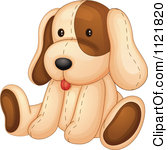 Cartoon Of A Cute Stuffed Dog Royalty Free Vector Clipart