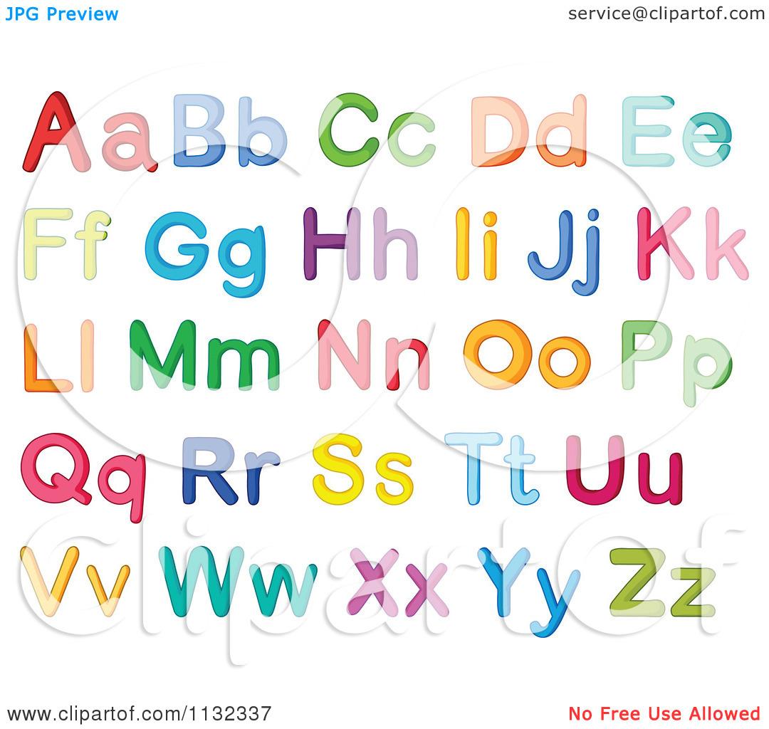 Cartoon Of Colorful Alphabet .-Cartoon Of Colorful Alphabet .-12