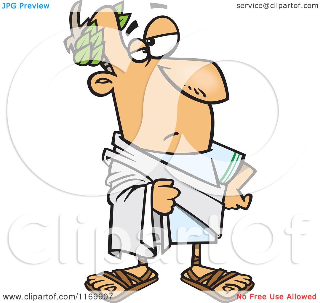Cartoon of Julius Caesar Posing - Royalty Free Vector Clipart by Ron Leishman