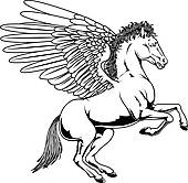 ... cartoon pegasus; pegasus drawing