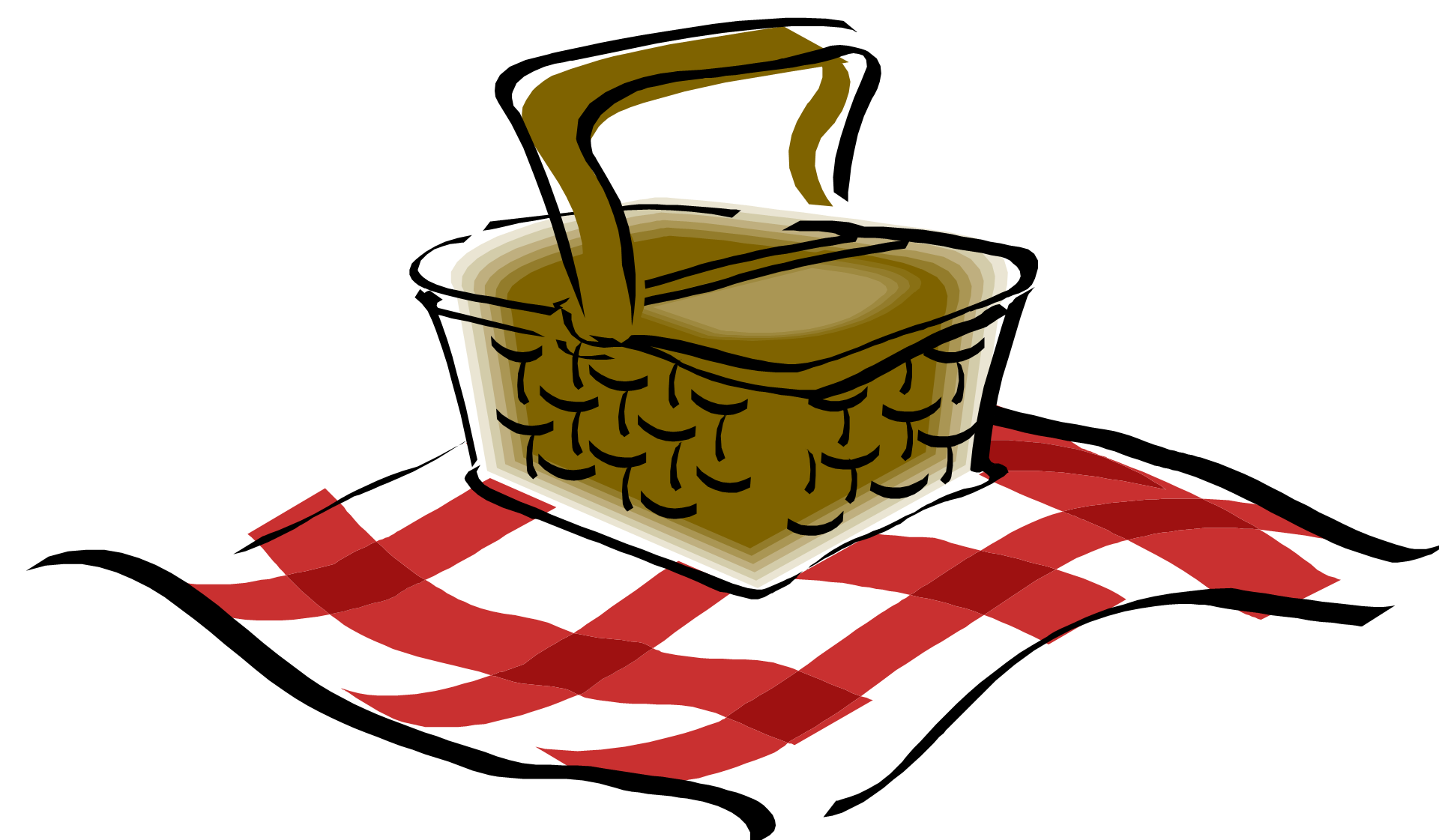 Cartoon Picnic Basket Png
