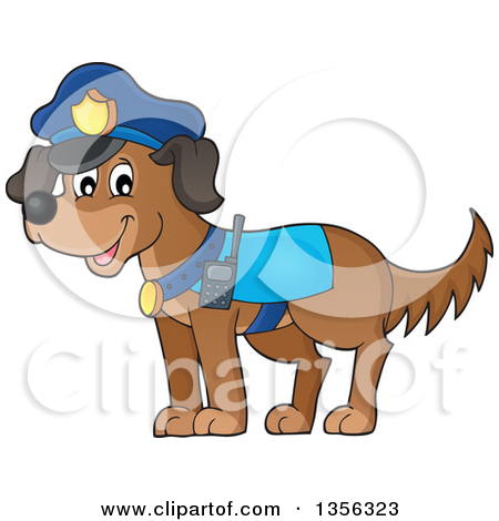 Cartoon Police Dog
