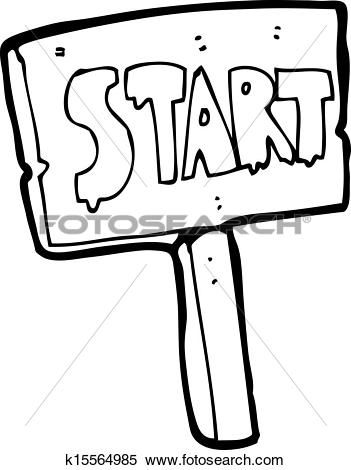 Cartoon Race Start Sign-cartoon race start sign-1