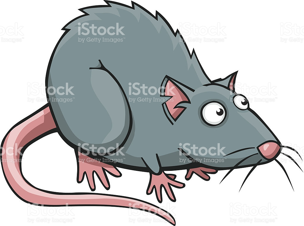 Cartoon Rat vector art illustration