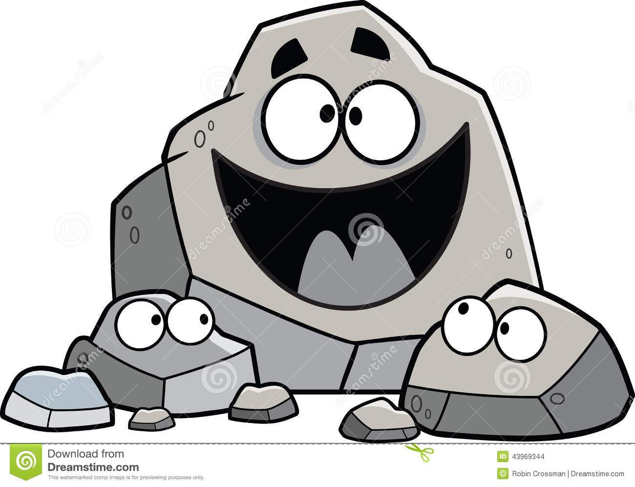 Cartoon Rock Family .