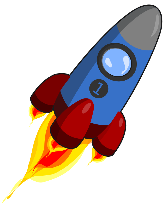 Cartoon Rocket Ship. Clipart .