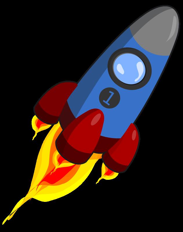 Cartoon Rocket Ship. Clipart  - Rocket Ship Clipart