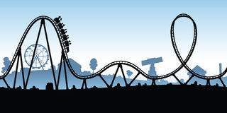 Cartoon Rollercoaster Stock Images