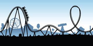 Cartoon Rollercoaster Stock I - Rollercoaster Clip Art