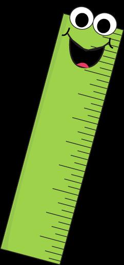 Cartoon Ruler Clip Art Image Funny Cartoon Face On A Green Ruler