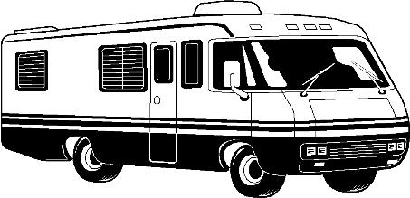 Cartoon RV Motorhome Clip Clipart