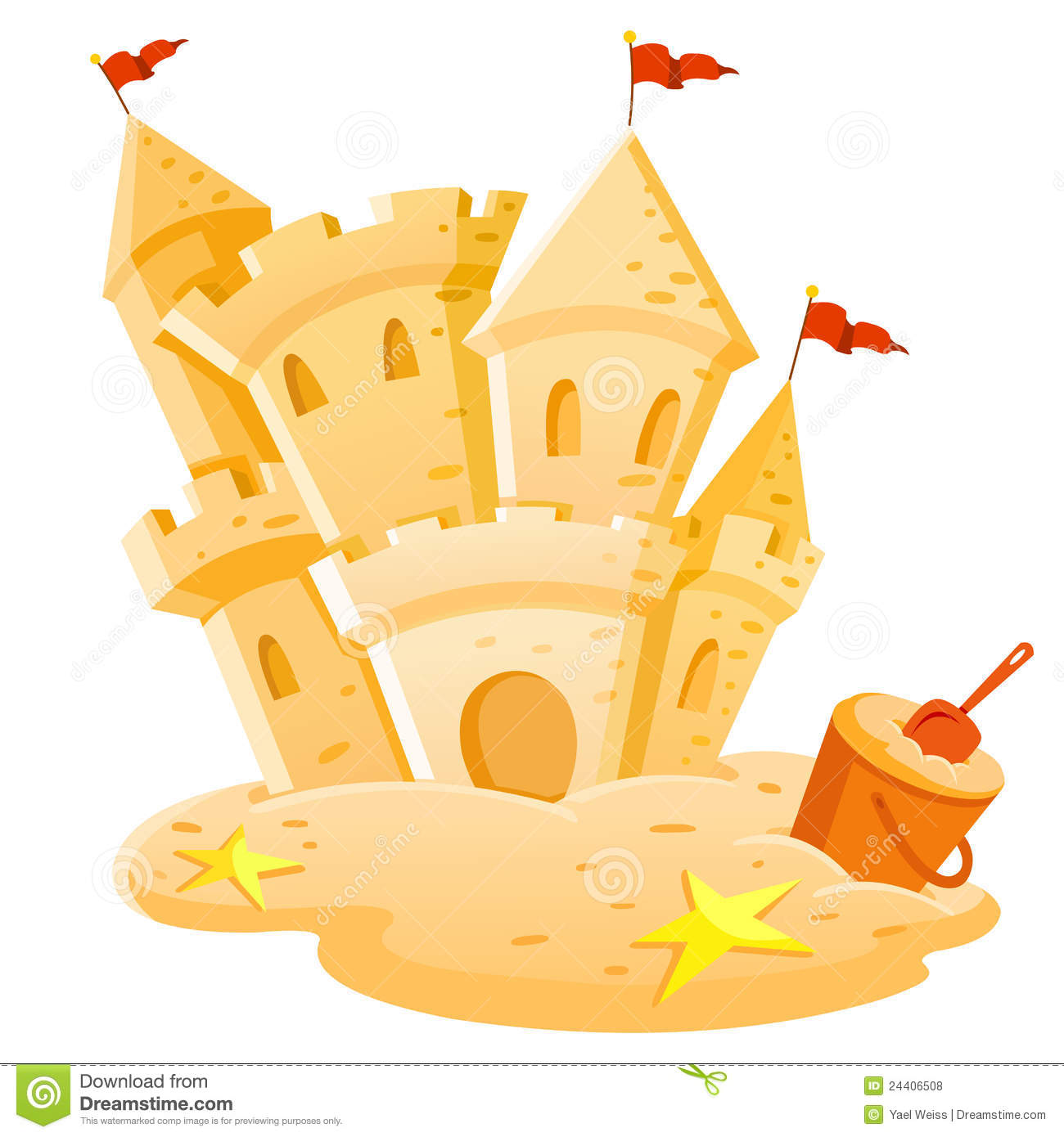 Cartoon Sand Castle Clip Art. 046a441f91b7d4a80ed729f75808d2 .