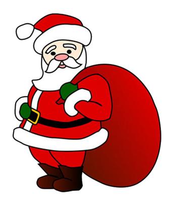 Cartoon Santa Claus Clip Art Christmas Gift Bag | Just Free Image