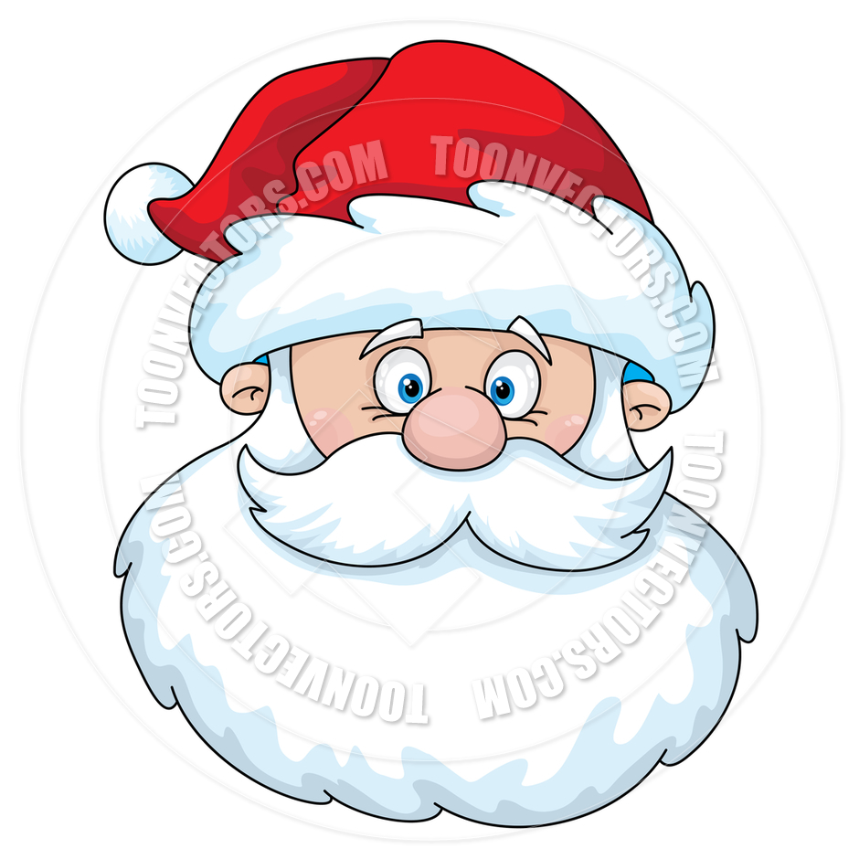 Cartoon Santa Claus Head-Cartoon Santa Claus Head-16