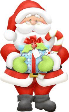 Cartoon Santa Claus With Xmas - Cute Santa Clipart