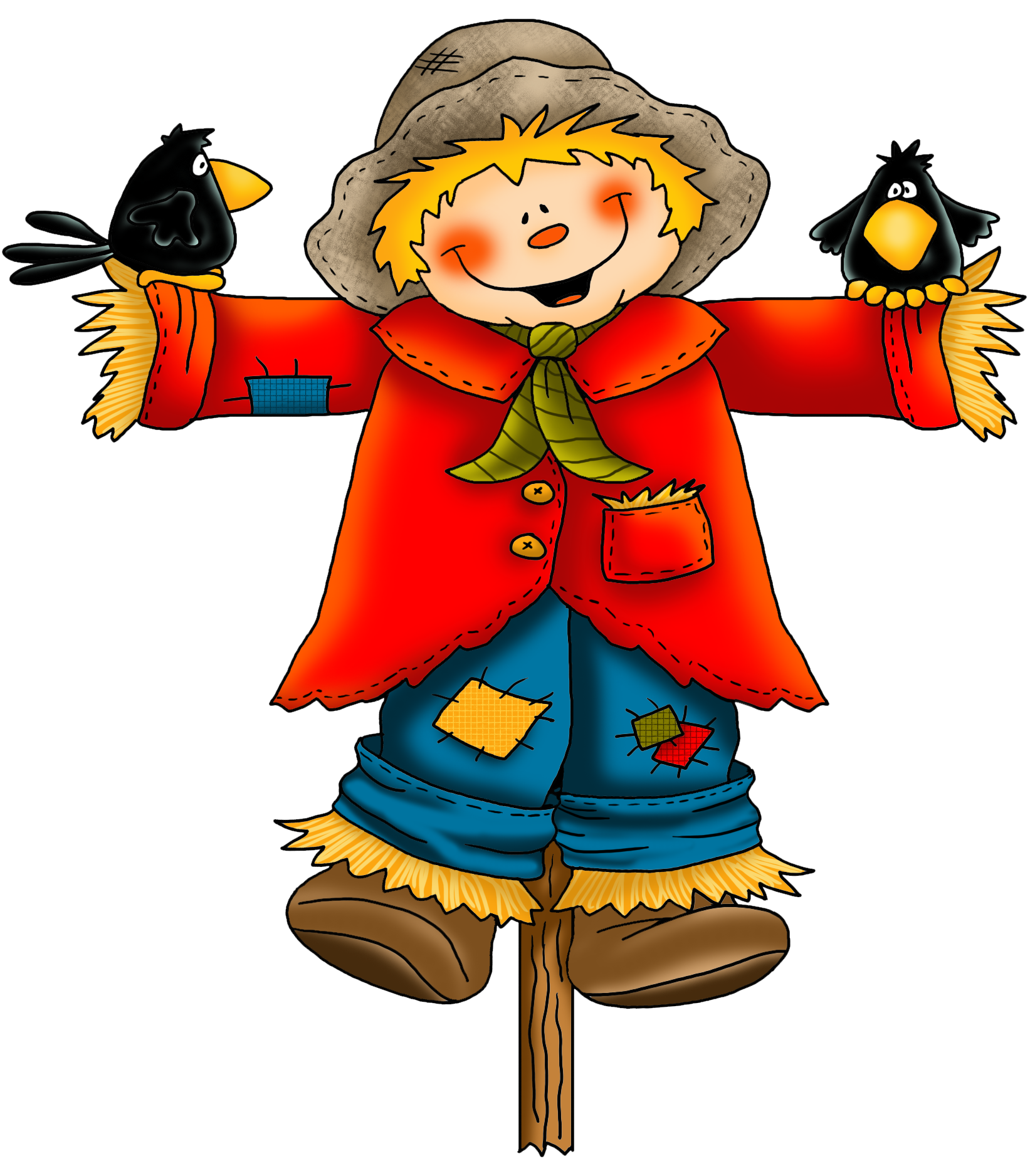 Cartoon Scarecrow Face How To Draw A Pictures 1651 x 1876