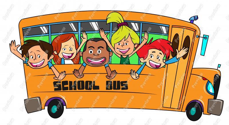 Cartoon School Bus Clipart .