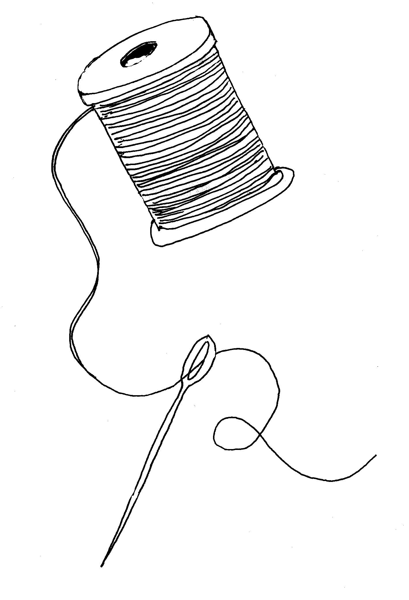 Cartoon Sewing Needle And Thread - Clipart library