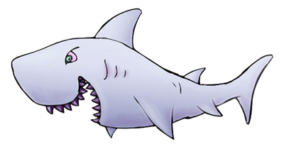 Cartoon Sharks Clipart Shark Clipart