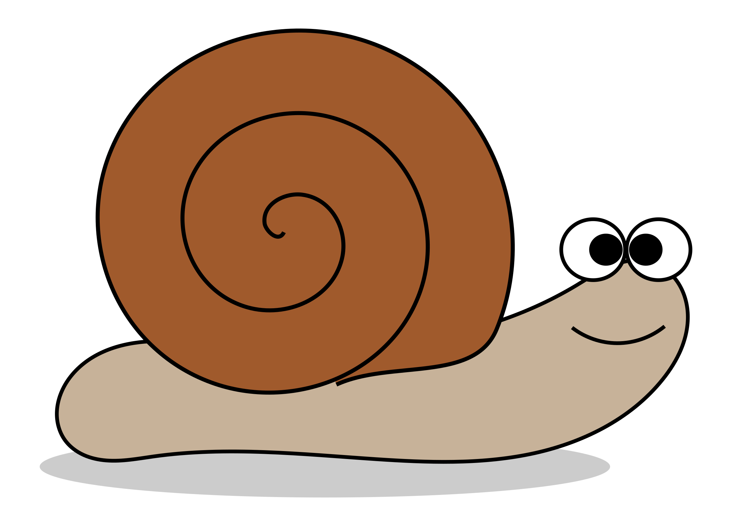 Cartoon snail clipart free public domain image