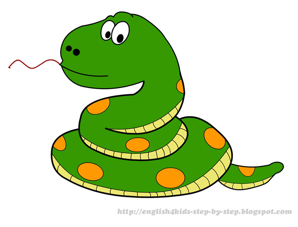 Cartoon snake animals clipart