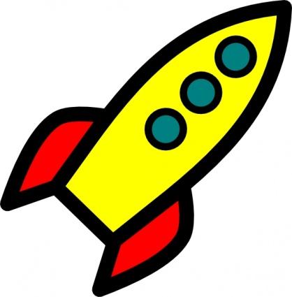 Cartoon Space Ship - Clipart .