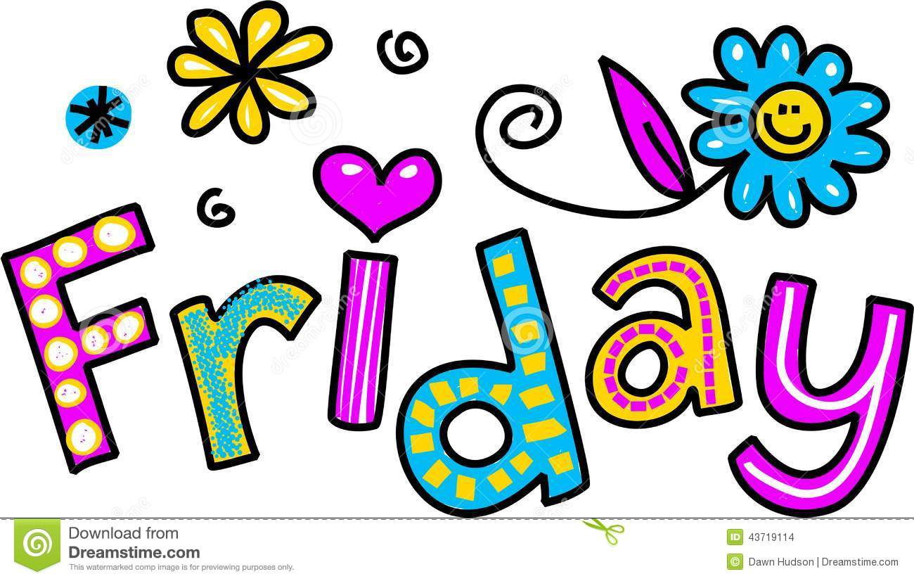 Cartoon Special Occasion And Expression -Cartoon Special Occasion And Expression Text That Reads Friday-1