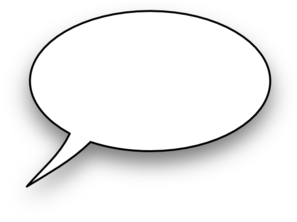 Cartoon,speech Bubble Clip Ar - Word Bubble Clip Art