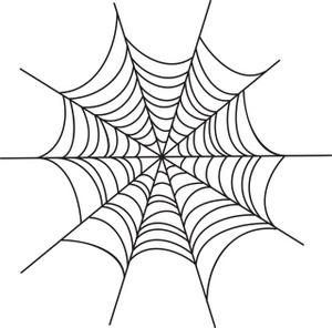 Cartoon spider web clipart - .