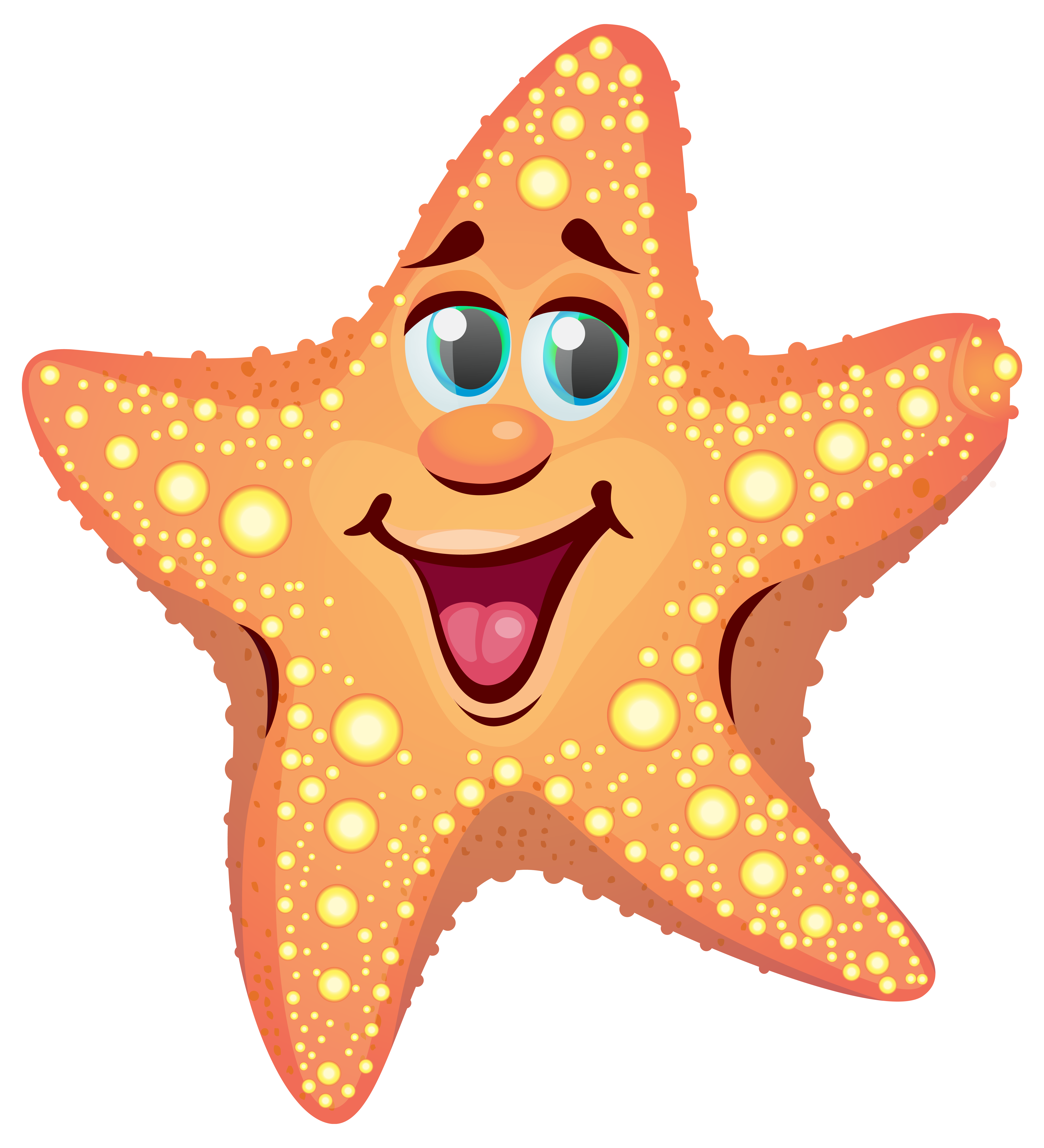 Cartoon starfish clipart image-Cartoon starfish clipart image-16