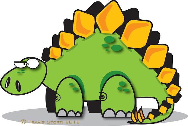 Cartoon Stegosaurus - ClipArt .